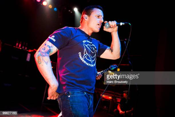 Zoli Teglas of Pennywise performs at the Shepherds Bush Empire on May 16 2010 in London England