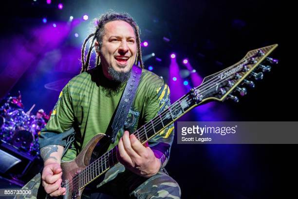 Zoltan Bathory of Five Finger Death Punch performs during Riff Fest at DTE Energy Music Theater on September 29 2017 in Clarkston Michigan