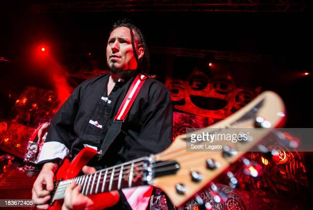 Zoltan Bathory of Five Finger Death Punch performs in support of The Wrong Side of Heavan Tour at The Fillmore Detroit on October 8 2013 in Detroit...