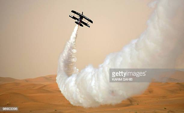 Zoltan Veres performs during the AlAin International Aerobatics Show at the Gulf emirate's airport on January 27 2010 The world�s top aerobatic...