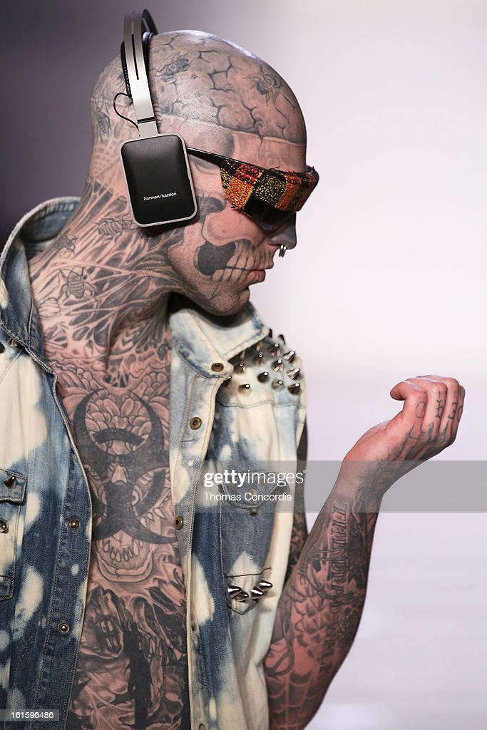 Zombie Boy walks the runway at the Tumbler And Tipsy By Michael Kuluva Fashion Show At CONAIR STYLE360 at STYLE360 presented by Conair Fashion...