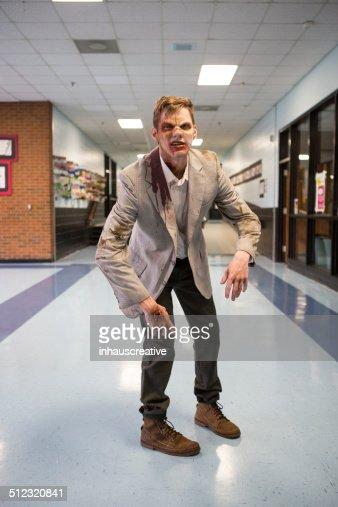 Zombie in the hallway