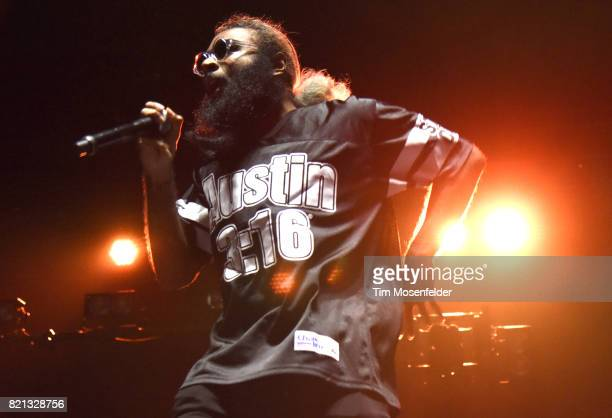 Zombie Juice of Flatbush Zombies performs at Bill Graham Civic Auditorium on July 22 2017 in San Francisco California