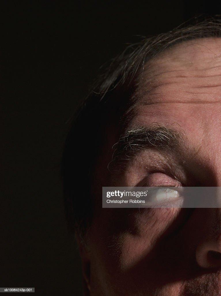 Zombie on black background, close-up : Stock Photo