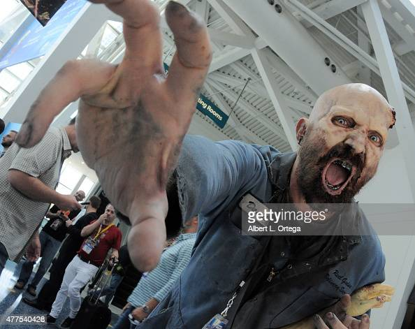 Zombie on day 2 of E3 2015 Electronic Entertainment Expo held at the Los Angeles Convention Center on June 17 2015 in Los Angeles California