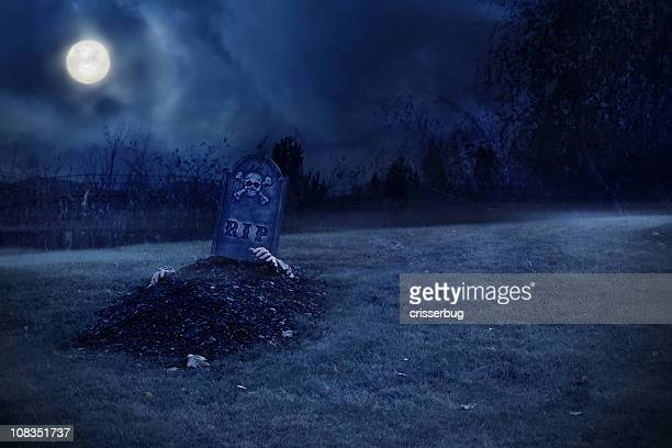Zombie Rising From Grave