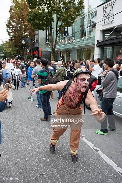 ゾンビーウォーク、カナダブリティッシュコロンビア州バンクーバーのパレード、ゾンビ 2015 年 9 月