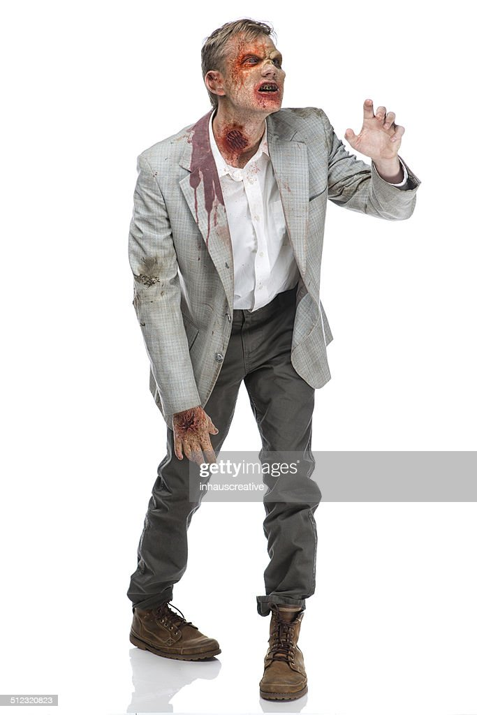 Zombie walking and reaching