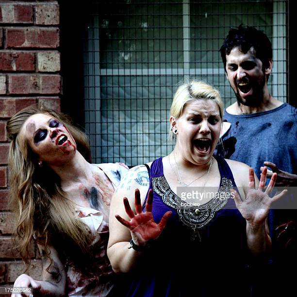 Zombies attacking