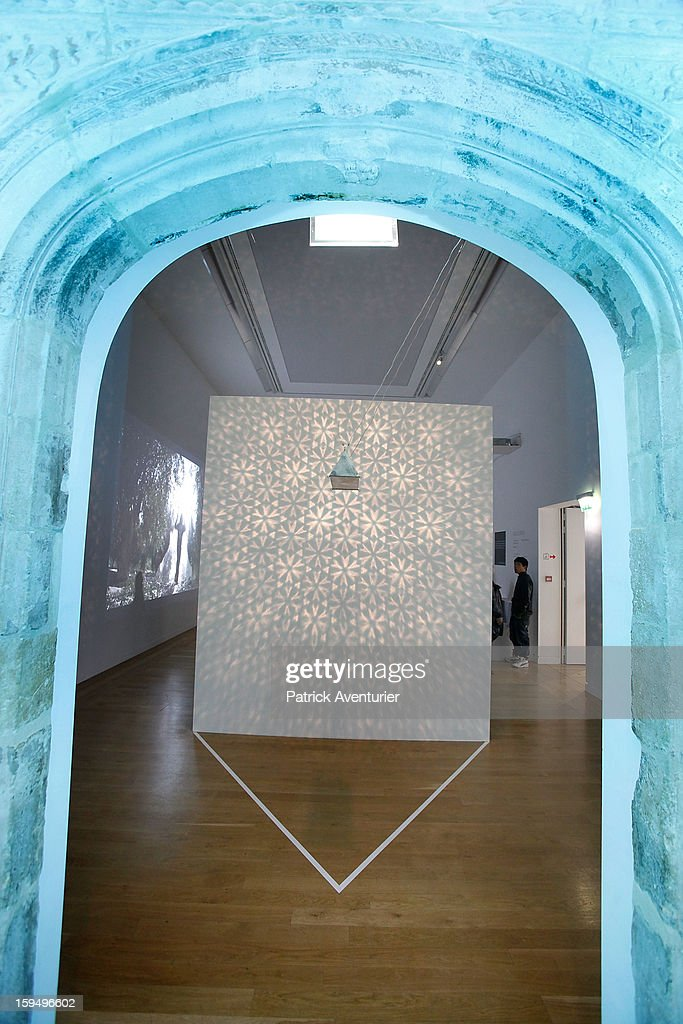 'Zona Blu' by Italian artist Fabrizio Corneli at the Granet museum during the contempory art exhibition for Marseille-Provence 2013 European Capital of Culture on January 13, 2013 in Aix-en-Provence, France.