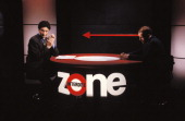 TV ' Zone Interdite' with Patrick de Carolis and Patrick Poivre d'Arvor in Paris France on March 07 1993