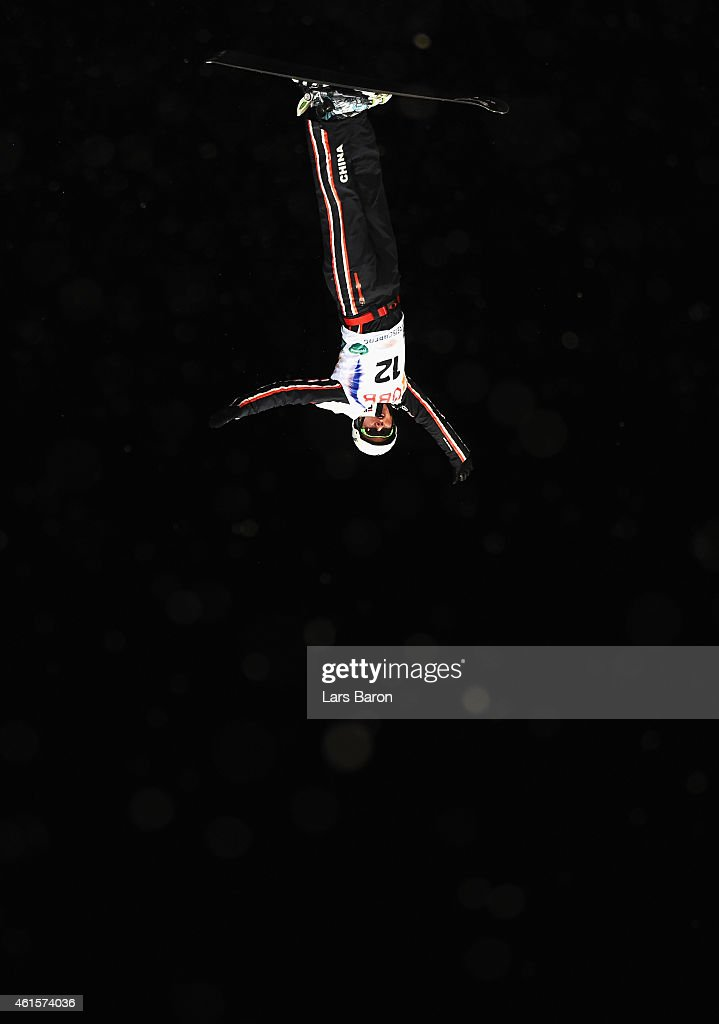 Zongyang Jia of China competes during the Men's Aerials Final of the FIS Freestyle Ski and Snowboard World Championship 2015 on January 15, 2015 in Kreischberg, Austria.