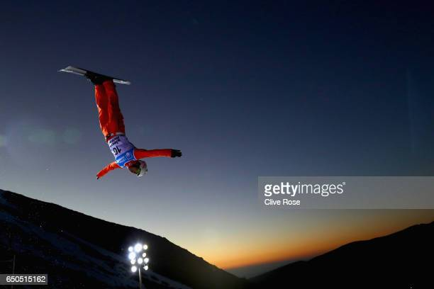 Zongyang Jia of China in action during Men's Aerials Training on day two of the FIS Freestyle Ski and Snowboard World Championships 2017 on March 9...