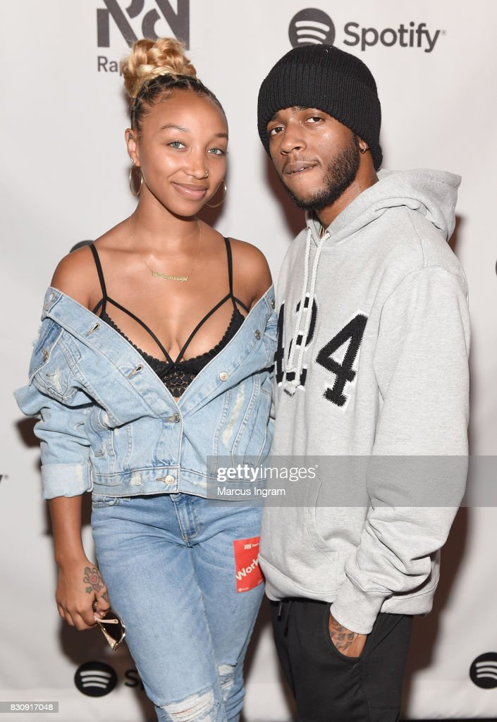 Zonnique Jailee Pullins and 6lack at Spotify's RapCaviar Live at The Tabernacle on August 12, 2017 in Atlanta, Georgia.