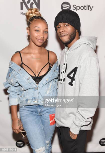 Zonnique Jailee Pullins and 6lack at Spotify's RapCaviar Live at The Tabernacle on August 12 2017 in Atlanta Georgia