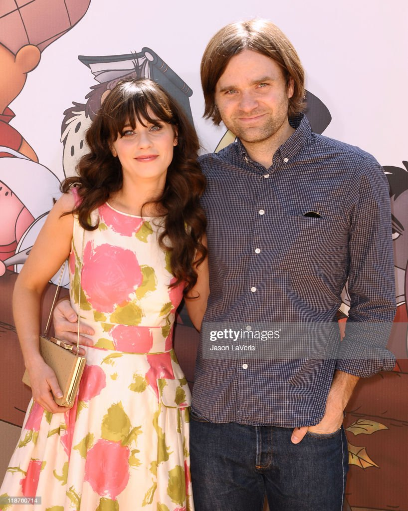 Zooey Deschanel and Ben Gibbard attend the premiere of Disney's 'Winnie The Pooh' at Walt Disney Studios on July 10, 2011 in Burbank, California.
