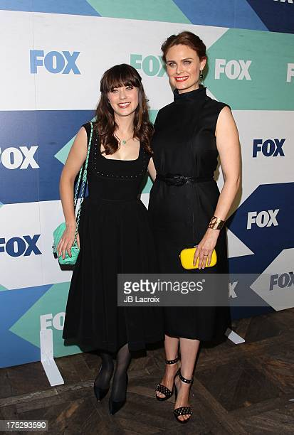 Zooey Deschanel and Emily Deschanel attend the 2013 Television Critics Association's Summer Press Tour FOX AllStar Party held at the Soho House on...