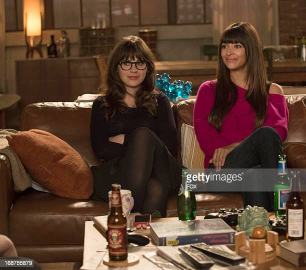 Zooey Deschanel and Hannah Simone star in the 'Virgins' season finale episode of NEW GIRL airing Tuesday April 30 2013 on FOX