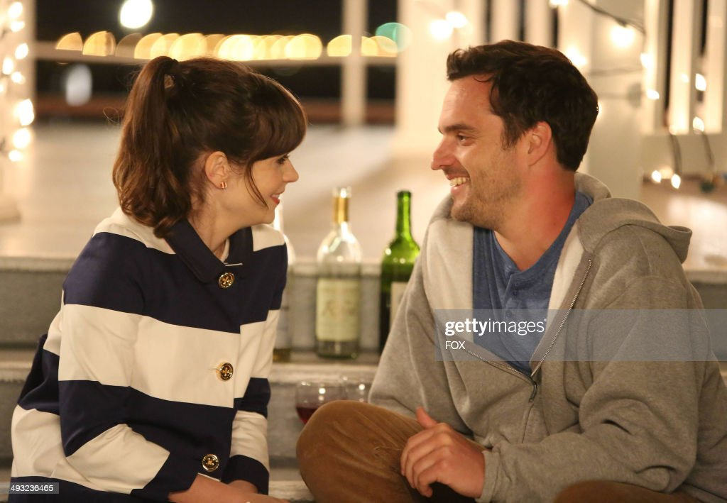 <a gi-track='captionPersonalityLinkClicked' href=/galleries/search?phrase=Zooey+Deschanel&family=editorial&specificpeople=202927 ng-click='$event.stopPropagation()'>Zooey Deschanel</a> (L) and <a gi-track='captionPersonalityLinkClicked' href=/galleries/search?phrase=Jake+Johnson+-+Actor&family=editorial&specificpeople=11543114 ng-click='$event.stopPropagation()'>Jake Johnson</a> in the 'Cruise' Season Finale episode of NEW GIRL airing Tuesday, May 6, 2014 (9:00-9:30 PM ET/PT) on FOX.
