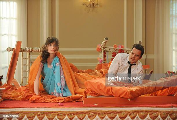 Zooey Deschanel and Jake Johnson star in the 'Elaine's Big Day' season finale episode of NEW GIRL airing Tuesday May 14 2013 on FOX