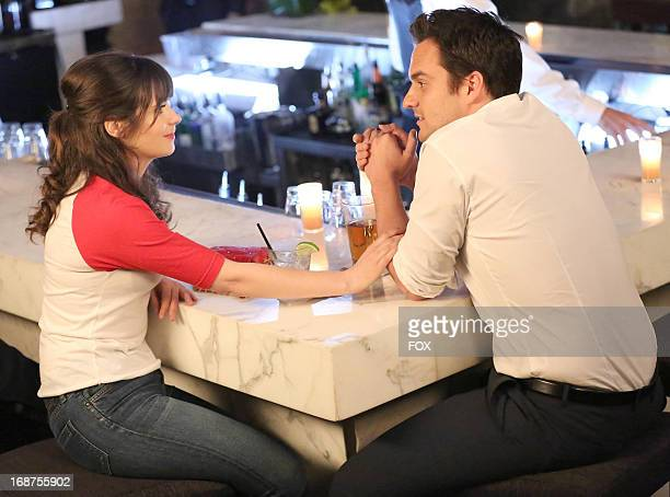 Zooey Deschanel and Jake Johnson star in the 'First Date' season finale episode of NEW GIRL airing Tuesday April 4 2013 on FOX