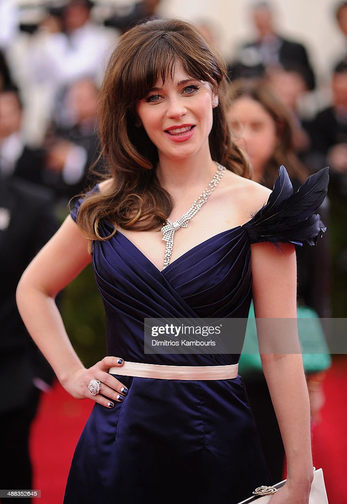 Zooey Deschanel attends the 'Charles James Beyond Fashion' Costume Institute Gala at the Metropolitan Museum of Art on May 5 2014 in New York City