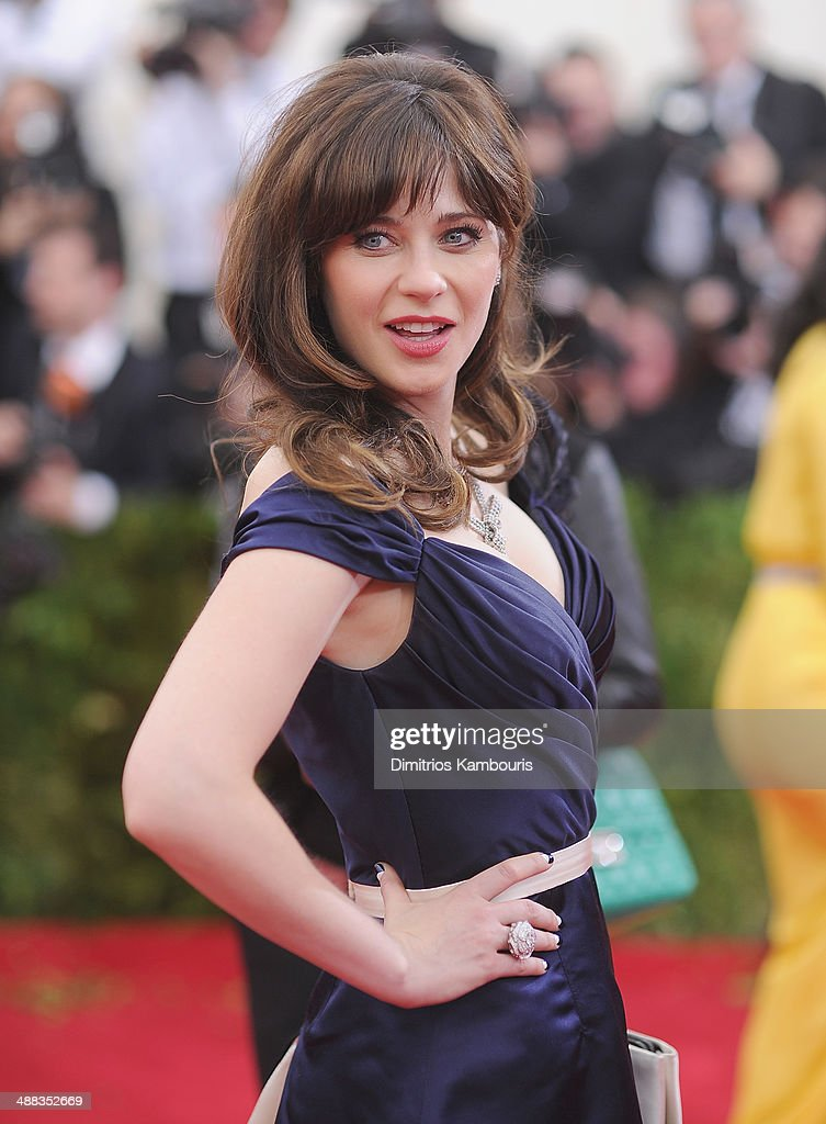 Zooey Deschanel attends the 'Charles James: Beyond Fashion' Costume Institute Gala at the Metropolitan Museum of Art on May 5, 2014 in New York City.