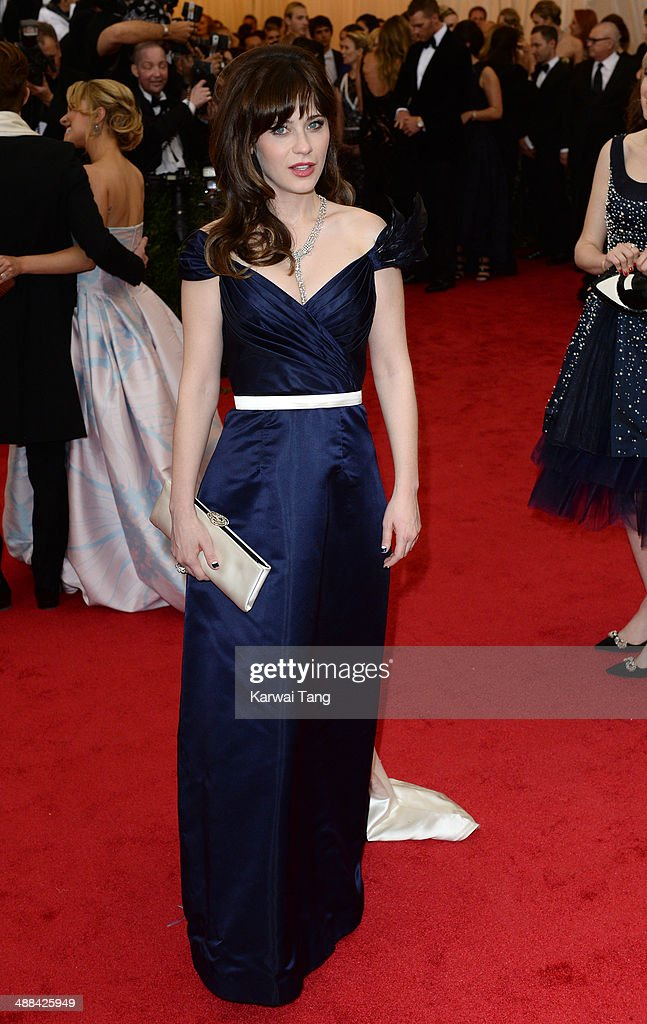 Zooey Deschanel attends the 'Charles James: Beyond Fashion' Costume Institute Gala held at the Metropolitan Museum of Art on May 5, 2014 in New York City.