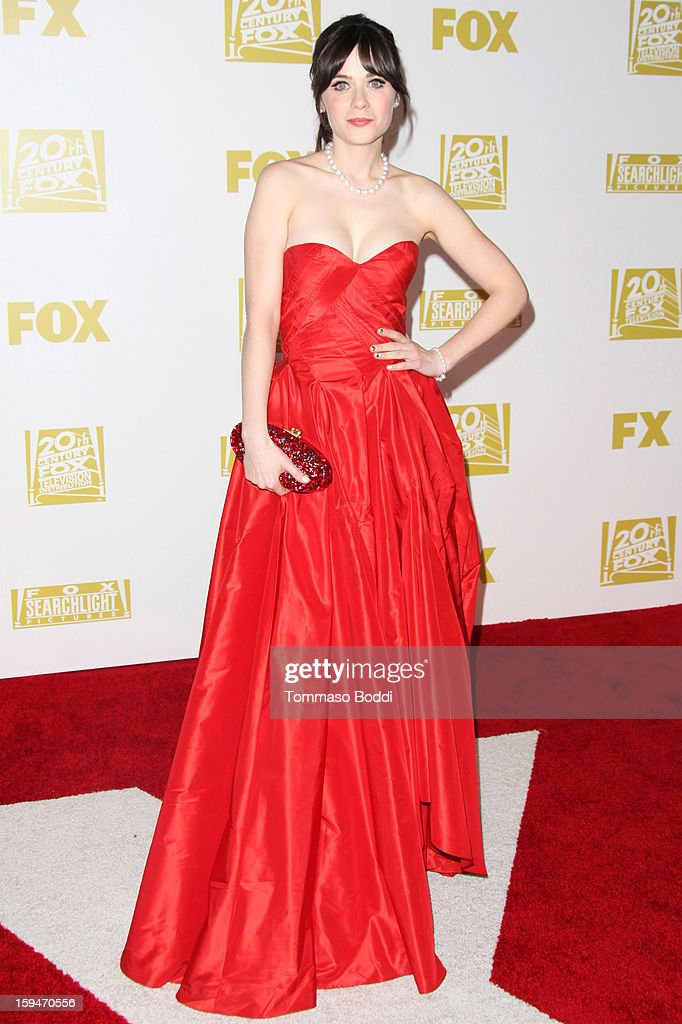 Zooey Deschanel attends the FOX Golden Globe after party held at the FOX Pavilion at the Golden Globes on January 13, 2013 in Beverly Hills, California.