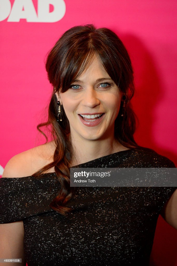 Zooey Deschanel attends the 'Rock The Kasbah' New York premiere at AMC Loews Lincoln Square 13 theater on October 19, 2015 in New York City.