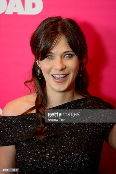 Zooey Deschanel attends the 'Rock The Kasbah' New York premiere at AMC Loews Lincoln Square 13 theater on October 19 2015 in New York City