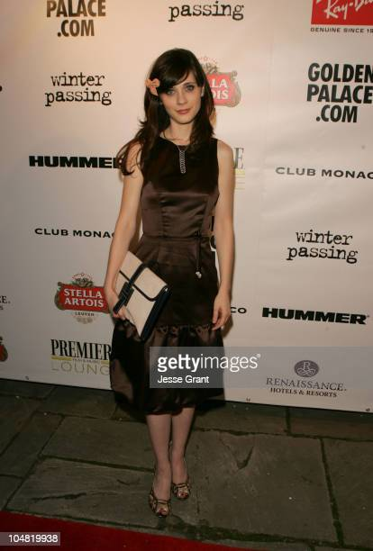 Zooey Deschanel during 2005 Toronto Film Festival 'Winter Passing' Party at Premiere Lounge at Club Monaco in Toronto Canada