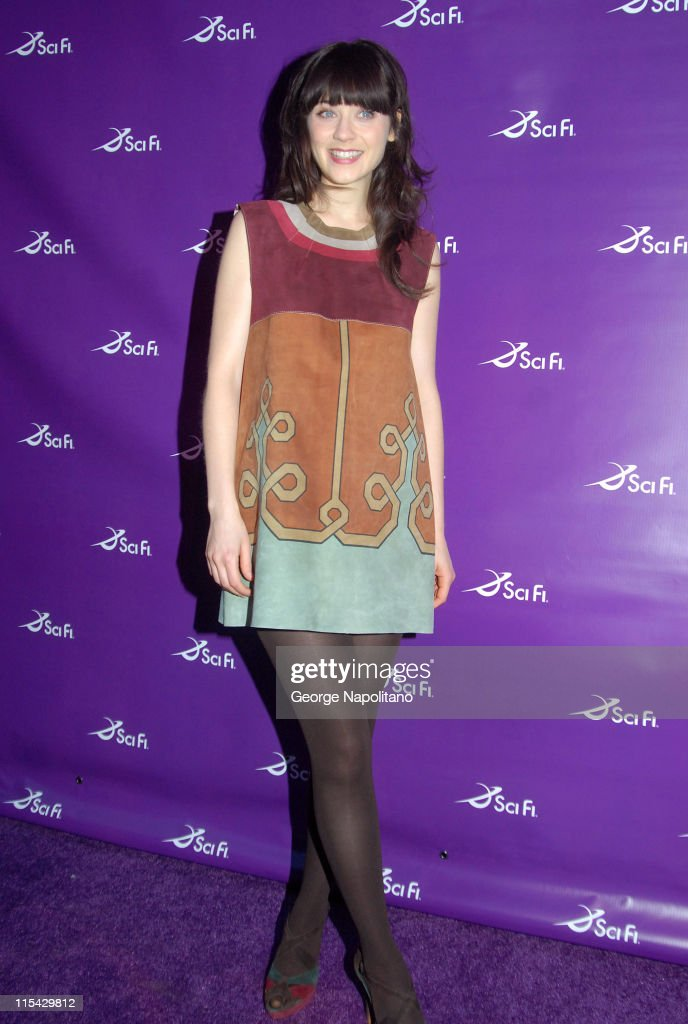 Zooey Deschanel during Sci Fi Channel 2007 Upfront Party at STK at STK in New York City New York United States