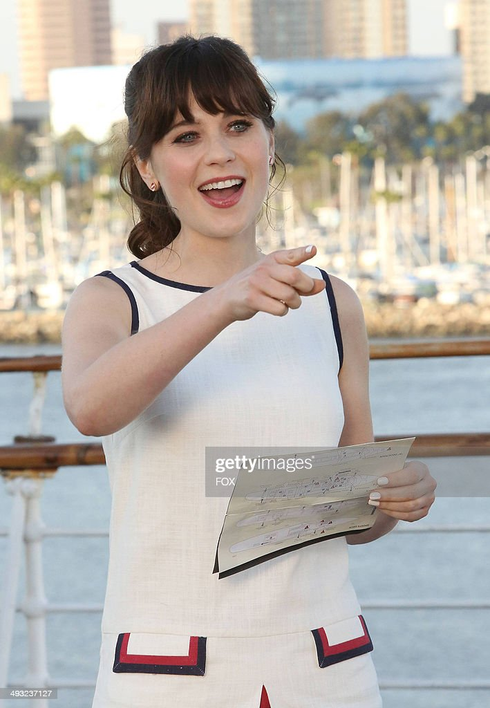 <a gi-track='captionPersonalityLinkClicked' href=/galleries/search?phrase=Zooey+Deschanel&family=editorial&specificpeople=202927 ng-click='$event.stopPropagation()'>Zooey Deschanel</a> in the 'Cruise' Season Finale episode of NEW GIRL airing Tuesday, May 6, 2014 (9:00-9:30 PM ET/PT) on FOX.