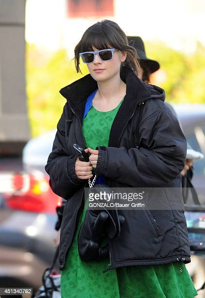Zooey Deschanel is seen on the set of the TV show 'The New Girl' on January 18 2012 in Los Angeles California