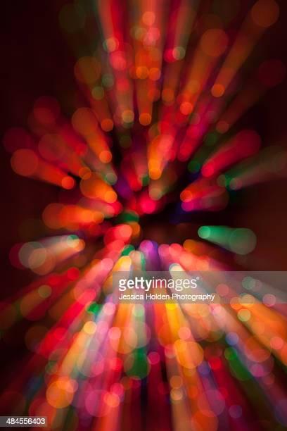 Zoomed image of Christmas tree lights