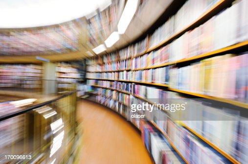 Zoomed Library Shelves