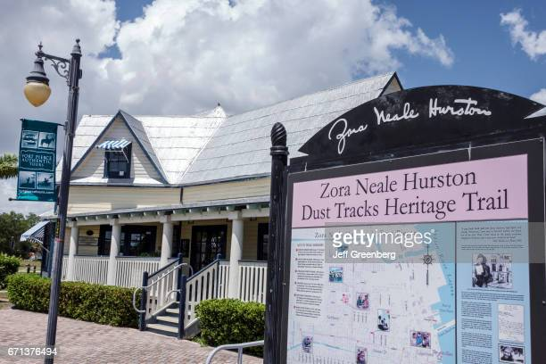 Zora Neale Hurston Dust Tracks Heritage Trail map sign