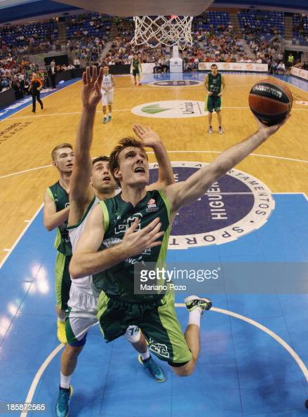 Zoran Dragic #22 of Unicaja Malaga in action during the 20132014 Turkish Airlines Euroleague Regular Season Date 2 game between Unicaja Malaga v...