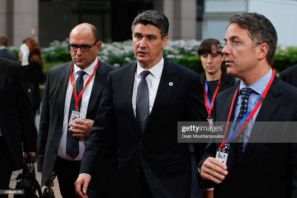 <a gi-track='captionPersonalityLinkClicked' href=/galleries/search?phrase=Zoran+Milanovic&family=editorial&specificpeople=4663917 ng-click='$event.stopPropagation()'>Zoran Milanovic</a>, Prime Minister of Croatia, arrives for the Informal Dinner of Heads of State or Government held at the Justus Lipsius Building on May 27, 2014 in Brussels, Belgium. Voting in the European elections resulted in significant gains for Eurosceptic parties in several countries across the continent in what has been described as a political 'earthquake'.
