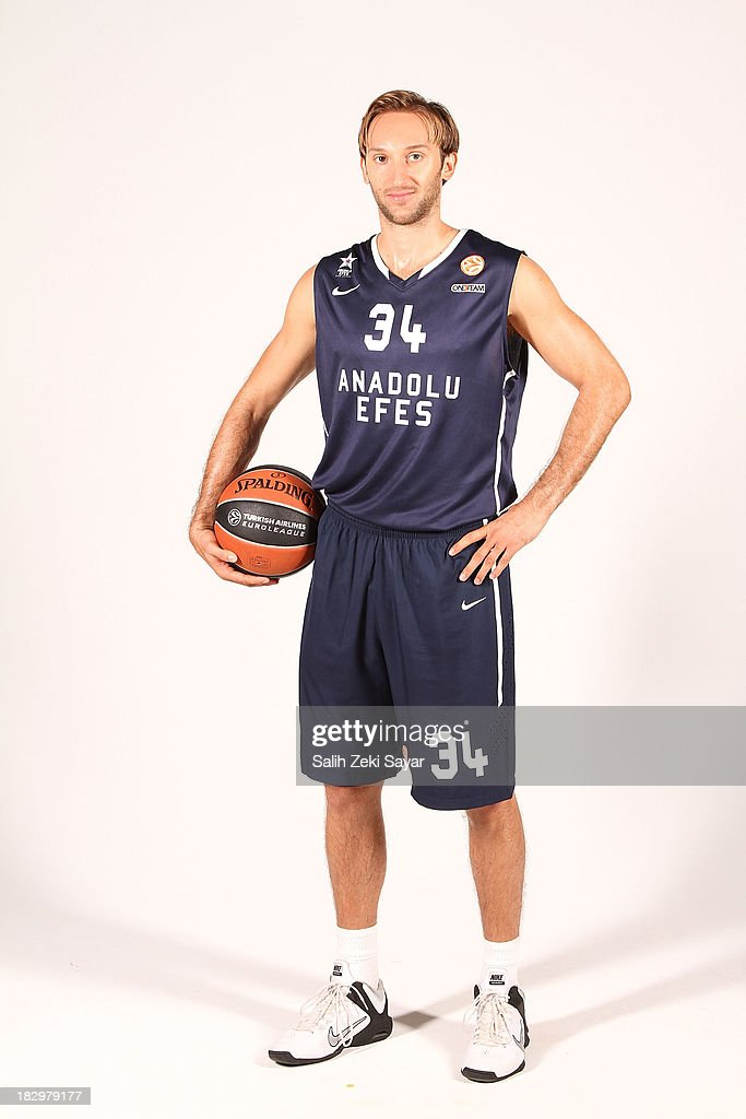 <a gi-track='captionPersonalityLinkClicked' href=/galleries/search?phrase=Zoran+Planinic&family=editorial&specificpeople=203163 ng-click='$event.stopPropagation()'>Zoran Planinic</a> of Anadolu Efes, during the Anadolu Efes Istanbul 2013/14 Turkish Airlines Euroleague Basketball Media Day at Abdi Ipekci on September 28, 2013 in Istanbul, Turkey.