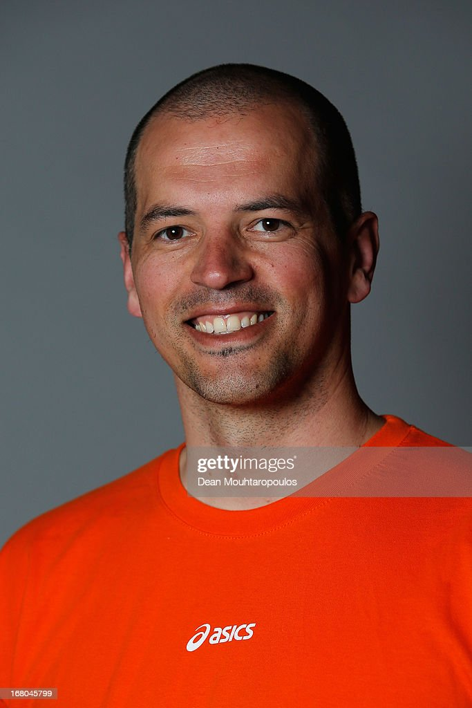 Zoran Radmilovic poses during the NOC*NSF (Nederlands Olympisch Comite * Nederlandse Sport Federatie) Sochi athletes and officials photo shoot for Asics at the Spoorwegmuseum on May 4, 2013 in Utrecht, Netherlands.