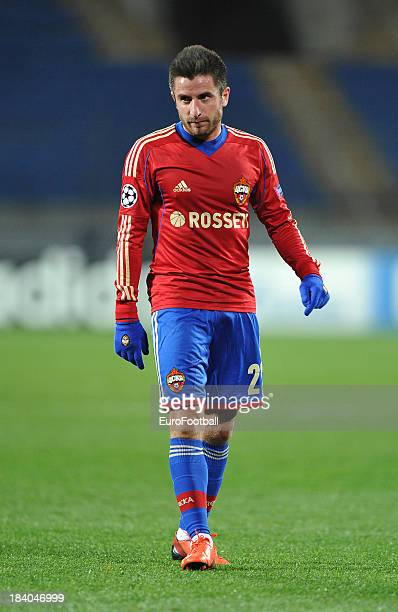 Zoran Tosic of PFC CSKA Moskva in action during the UEFA Champions League group stage match between PFC CSKA Moskva and FC Viktoria Plzen held on...