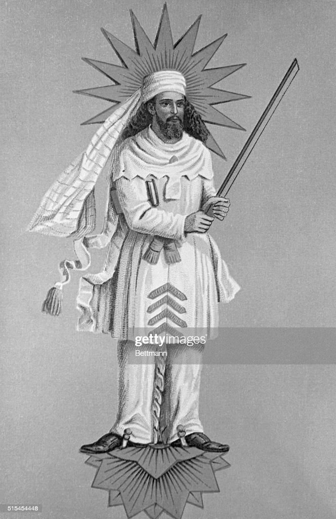 Zoroaster. Founder of the religion of Iranian People. Reconstruction by D.F.Karaka. Recognized by experts as the most authentic image of Zoroaster.
