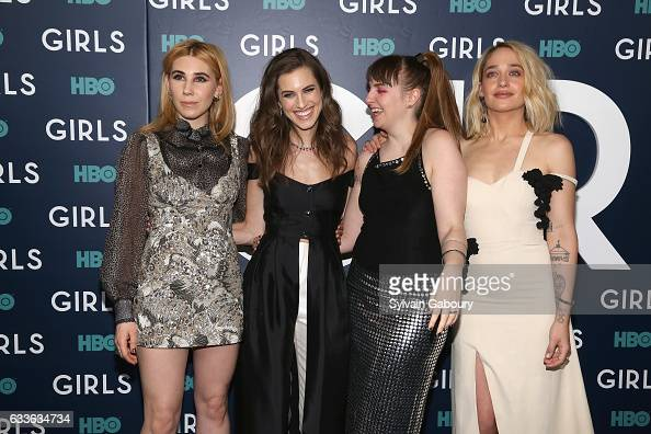 Zosia Mamet Allison Williams Lena Dunham and Jemima Kirke attend The New York Premiere of the Sixth Final Season of 'Girls' at Alice Tully Hall on...