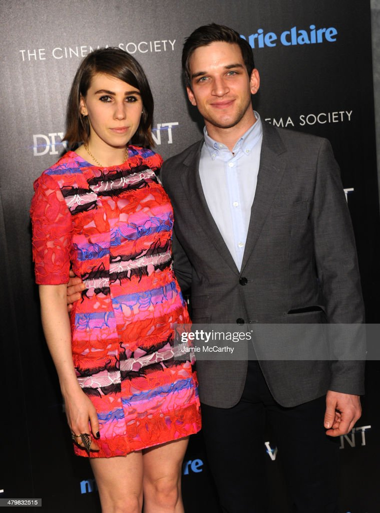 <a gi-track='captionPersonalityLinkClicked' href=/galleries/search?phrase=Zosia+Mamet&family=editorial&specificpeople=7439328 ng-click='$event.stopPropagation()'>Zosia Mamet</a> and Evan Jonigkeit attend the Marie Claire & The Cinema Society screening of Summit Entertainment's 'Divergent' at Hearst Tower on March 20, 2014 in New York City.