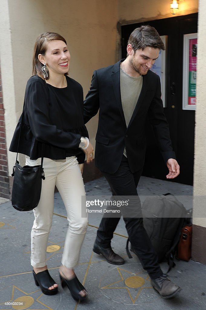<a gi-track='captionPersonalityLinkClicked' href=/galleries/search?phrase=Zosia+Mamet&family=editorial&specificpeople=7439328 ng-click='$event.stopPropagation()'>Zosia Mamet</a> and Evan Jonigkeit attend the 'The Village Bike' Opening Night Arrivals at Lucille Lortel Theatre on June 10, 2014 in New York City.