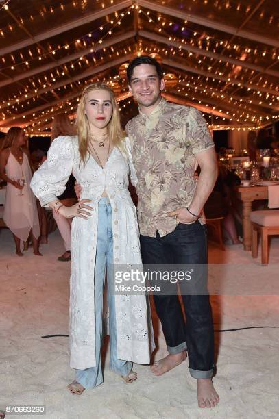 Zosia Mamet and Evan Jonigkeit attend the weekend opening of The NEW ultraluxury Cove Resort at Atlantis Paradise Island on November 4 2017 in The...