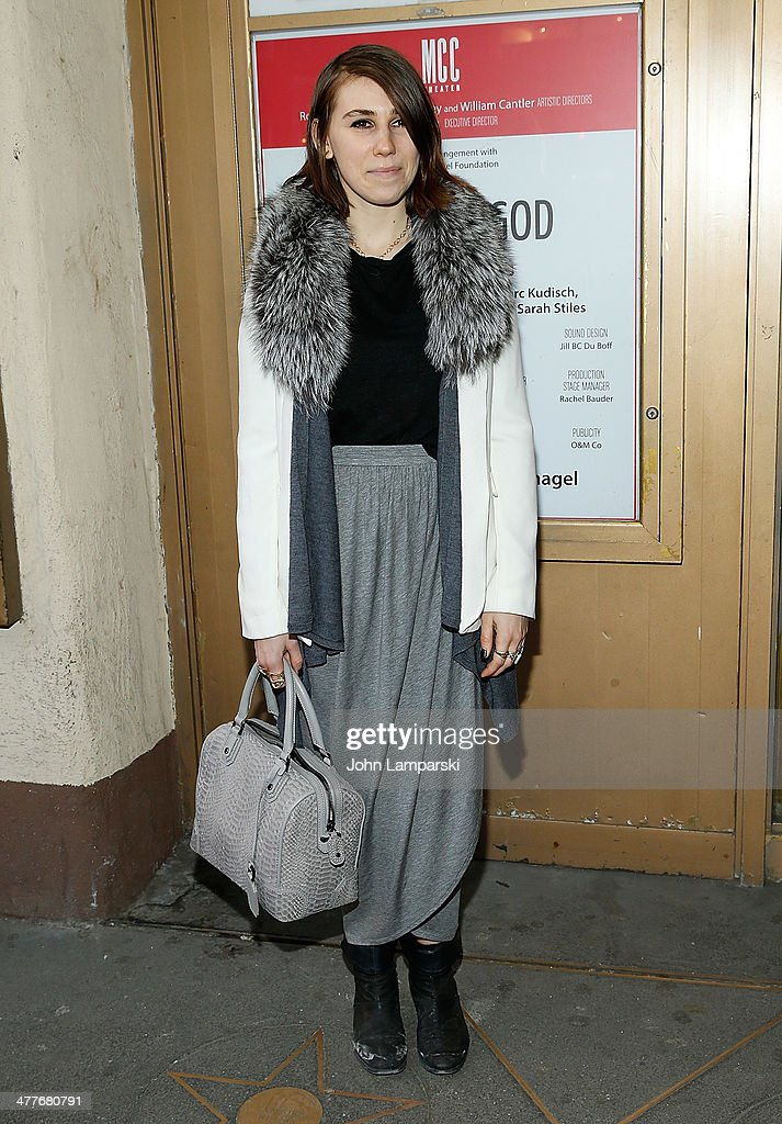 Zosia Mamet attend the 'Hand Of God' OffBroadway Opening Night at Lucille Lortel Theatre on March 10 2014 in New York City