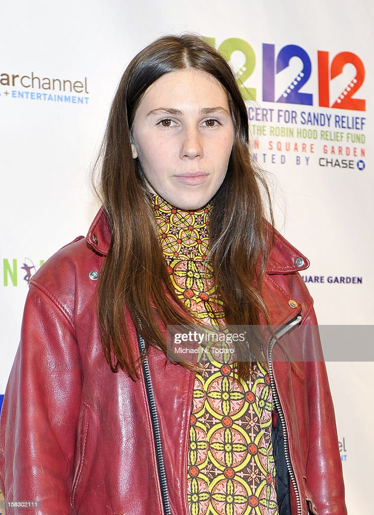 Zosia Mamet attends 12-12-12 the Concert for Sandy Relief at Madison Square Garden on December 12, 2012 in New York City.